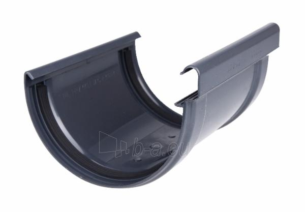 PLASTMO Kompensacinė latakų jungtis (Nr.11) 120 mm (grafitinė) Paveikslėlis 1 iš 2 237520200125