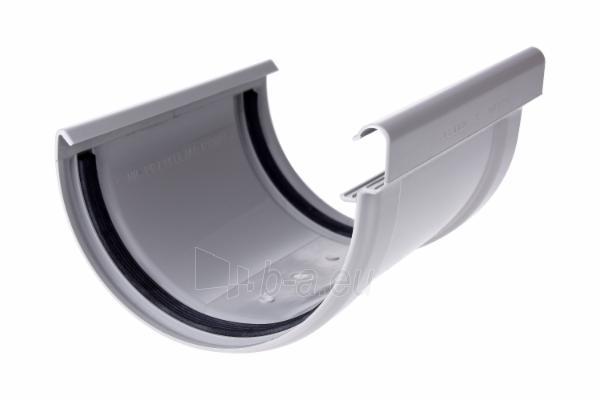 PLASTMO Kompensacinė latakų jungtis (Nr.11) 120 mm (pilka) Paveikslėlis 1 iš 2 237520200124