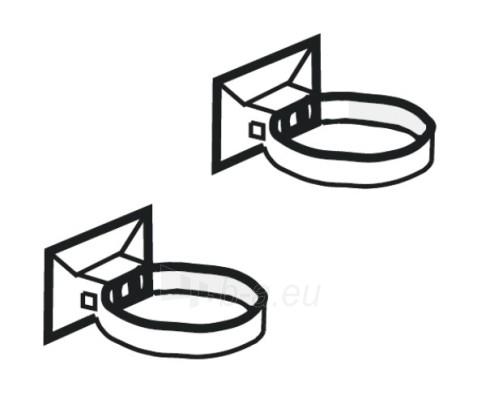 PLASTMO Lietvamzdžio laikiklis (Nr.10) 75 mm (pilkas) Paveikslėlis 1 iš 1 237521200009