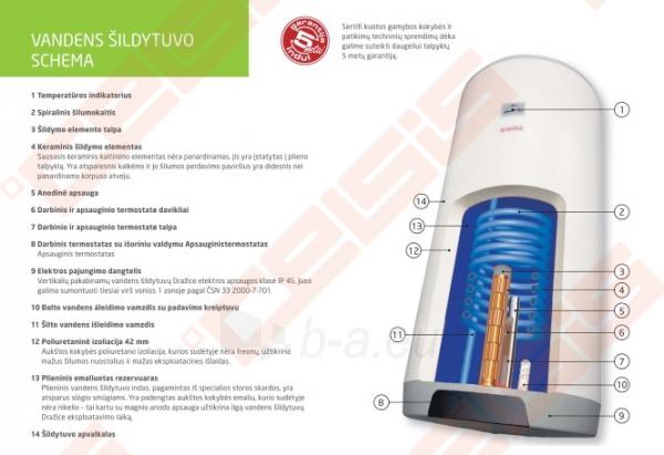 Pakabinamas vertikalus kombinuotas tūrinis vandens šildytuvas DRAŽICE OKC 80 Paveikslėlis 4 iš 4 271420000033