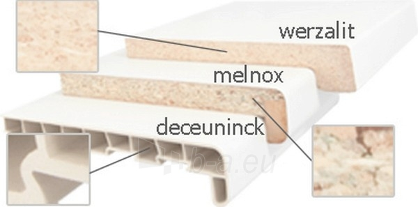 Palodze pārslās MELNOX 300 mm, balts, zāģēta Paveikslėlis 1 iš 1 237950200013