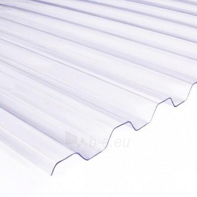 Plate PVC trapezoidal 900x3000 mm transparent Paveikslėlis 1 iš 1 237160000208