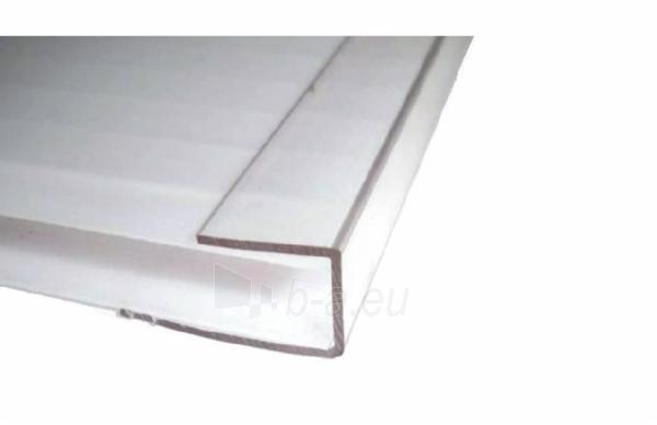 Polikarbonatinės plokštės profilis PC-U 6 mm (2,1 m) skaidrus Paveikslėlis 1 iš 2 237112500002