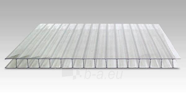 Polikarbonato plokštė 4x2100x6000 mm (12.6 m²) skaidri, pjaustomas ilgis 2-3-4-6m, plotis 2.1-1.05m Paveikslėlis 1 iš 2 237160000064