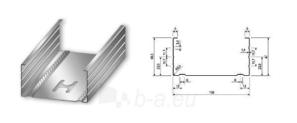 Profilis CW-100/50 4,00 m (0,5 mm) Paveikslėlis 1 iš 1 236218000169