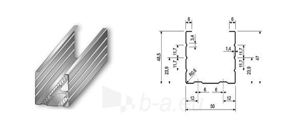 Profilis CW-50/50 4,00 m (0,5 mm) Paveikslėlis 1 iš 1 236218000161