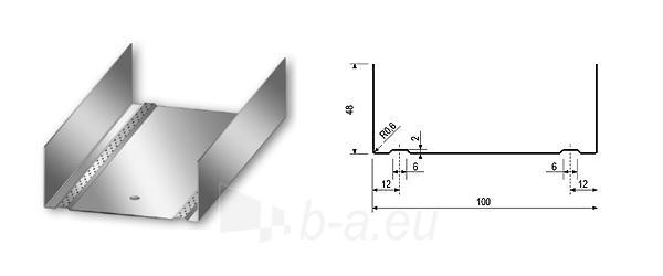 Profilis U-100 4,00 m Paveikslėlis 1 iš 1 236218000087