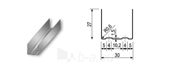 Profilis UD-30 4,00 m Paveikslėlis 1 iš 1 236218000075