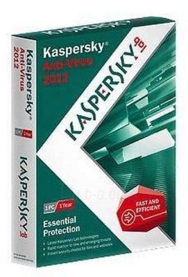 Programinė įranga KASPERSKY ANTI-VIRUS 2012 2-PC 1Y FULL Paveikslėlis 1 iš 1 250258000009