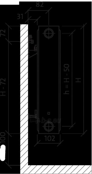 Radiatorius PURMO CV 22 600-800, pajungimas apačioje Paveikslėlis 2 iš 10 270622000830