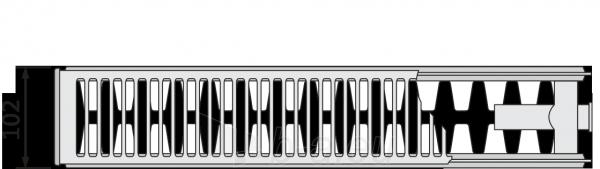 Radiatorius PURMO CV 22 600-800, pajungimas apačioje Paveikslėlis 10 iš 10 270622000830
