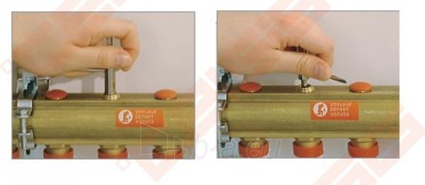 Reguliuojamas kolektorius Giacomini 10 žiedų | su balansiniais ventiliais Paveikslėlis 2 iš 3 270331000023