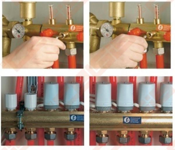 Reguliuojamas kolektorius Giacomini 7 žiedų | su debitomačiais Paveikslėlis 2 iš 2 270331000031