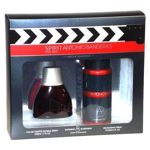 Komplekts Antonio Banderas Spirit EDT 50ml+150ml dezodorants Paveikslėlis 1 iš 1 250812000151