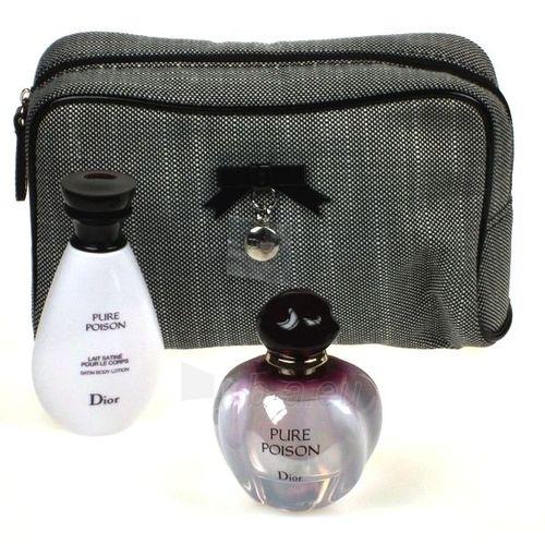 Rinkinys Christian Dior Pure Poison EDP 50ml+50ml kūno losjonas+kosmetinė Paveikslėlis 1 iš 1 250811000533