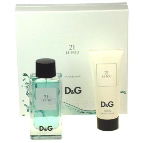 Rinkinys Dolce & Gabbana Le Fou 21 EDT 100ml + 100ml dušo želė Paveikslėlis 1 iš 1 250812000302