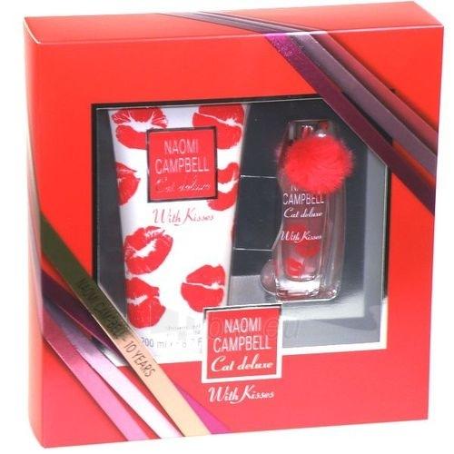 Rinkinys Naomi Campbell Cat Deluxe With Kisses EDT 15ml + 200ml dušo želė Paveikslėlis 1 iš 1 250811000090