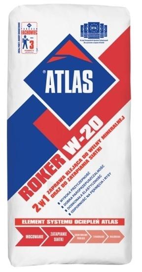 Roker W-20 klijai mineraliniai vatai 25kg Paveikslėlis 1 iš 1 236780100001