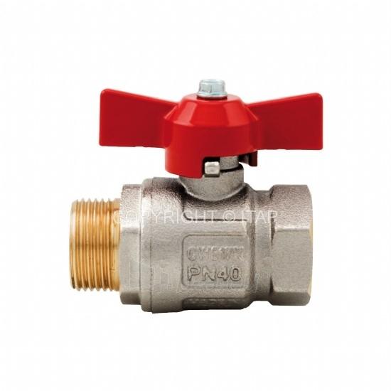 Rutulinis ventilis IDEAL, d 3/8'', vidus-išorė, trumpa rankena Paveikslėlis 1 iš 1 270116000110