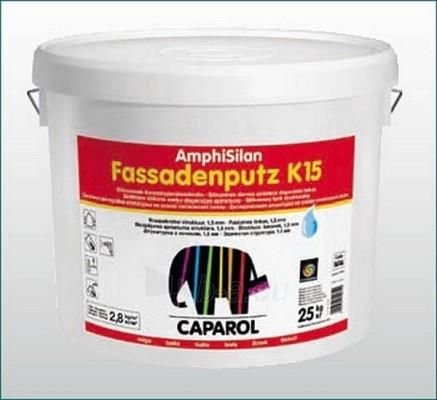 Silikoninis tinkas AmphiSilan Fassadenputze K15, (balta bazė) 25 kg Paveikslėlis 1 iš 1 236760100266