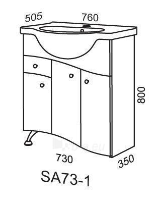 Spintelė praustuvui Riva SA73-1 (apatinė) Paveikslėlis 2 iš 2 250401000021