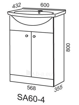 Spintelė praustuvui Riva60 SA60-4 Paveikslėlis 2 iš 2 250401000116