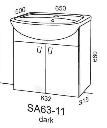Cabinet vanity Riva64 SA63-11 dark Paveikslėlis 2 iš 2 250401000087