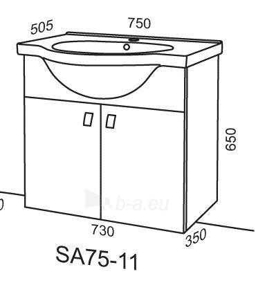 Cabinet vanity Riva75 SA75-11 dark Paveikslėlis 2 iš 2 250401000133