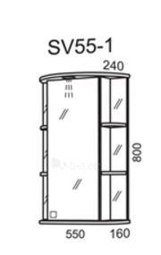 cabinet with mirror Riva SV55-1 (top) Paveikslėlis 2 iš 2 250401000027