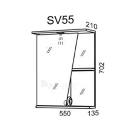 Spintelė su veidrodžiu Riva SV55 (viršutinė) Paveikslėlis 2 iš 2 250401000028