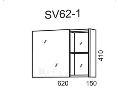Spintelė su veidrodžiu Riva SV62-1 (viršutinė) Paveikslėlis 2 iš 2 250401000031