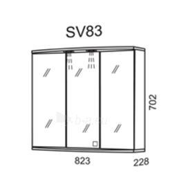 Spintelė su veidrodžiu Riva SV83 (viršutinė) Paveikslėlis 2 iš 2 250401000033