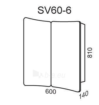 Spintelė su veidrodžiu Riva60 SV60-6 Paveikslėlis 2 iš 2 250401000118