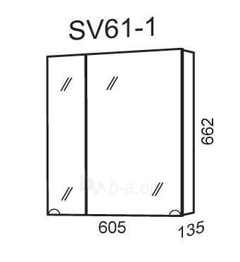 Spintelė su veidrodžiu Riva60 SV61-1 Paveikslėlis 2 iš 2 250401000110