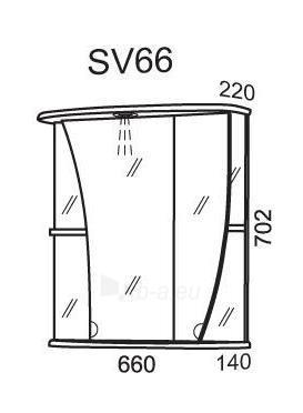 Spintelė su veidrodžiu Riva64 SV66 Paveikslėlis 2 iš 2 250401000119