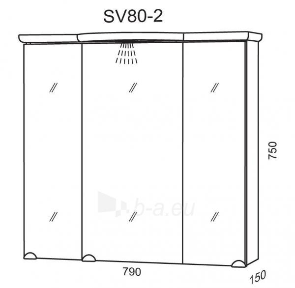 Spintelė su veidrodžiu Riva80 SV80-2 Paveikslėlis 2 iš 2 250401000127