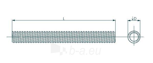 Srieginis strypas DIN 975 M 6 x 2000 4,8 kl., Zn Paveikslėlis 1 iš 1 236162800057