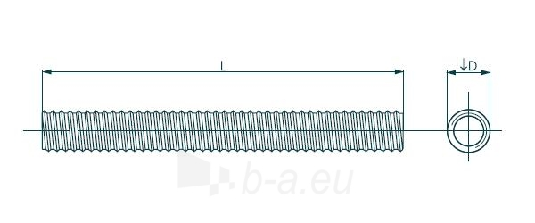 Srieginis strypas DIN975 M10x1000 4,8 kl., cink. Paveikslėlis 1 iš 1 236162800060