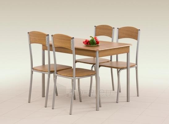Stalas su kėdėm LONGIN (riešutas) Paveikslėlis 1 iš 1 250452000004