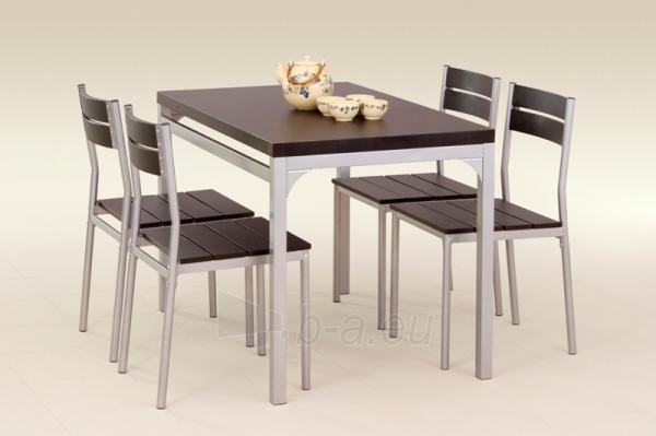 Stalas su kėdėm MALCOLM (wenge) Paveikslėlis 2 iš 2 250452000010