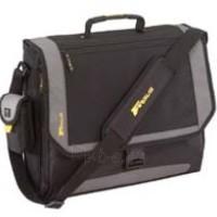 Targus XL Metro Messenger Notebook case 17'' - Black/Silver nylon Paveikslėlis 1 iš 3 250256200425