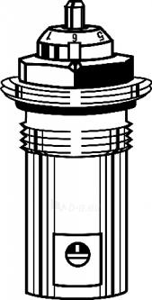 Termostatinis ventilis VHF-exakt G d1/2 įmontuojamiems ventiliams Paveikslėlis 1 iš 1 270380000241