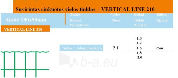 Tinklas VERTICAL LINE 210 100x50 H-1,5m (25 m, 37,5kv.m) Paveikslėlis 2 iš 2 239340500041