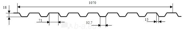 Trapecinio profilio skarda 18ST/SN (spalvotas poliesteris) Paveikslėlis 2 iš 3 237110300054