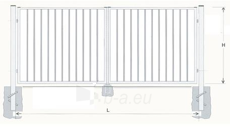 Varstomi vartai karštai cinkuoti 1600x4000 (užpildas-strypeliai) Paveikslėlis 1 iš 1 239370000113
