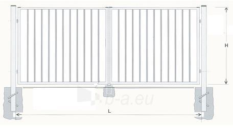 Varstomi vartai karštai cinkuoti 2000x5000 (užpildas-strypeliai) dažyti Paveikslėlis 1 iš 1 239370000129