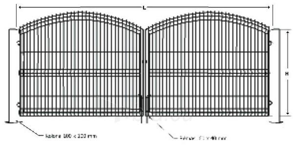 Vartai A tipo cinkuoti 1500x3000 užpildas segmentas dažyti Paveikslėlis 1 iš 1 239370000273