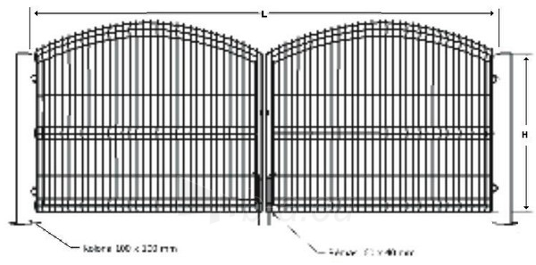 Galvanized A type swing gate 1500x4000 (filler-segment) painted Paveikslėlis 1 iš 1 239370000270