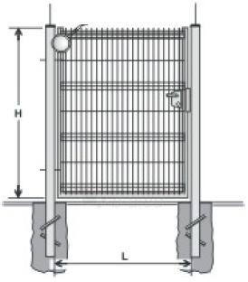 Hot dipped galvanized Swing Gates (single leaf) 1400x1000 (filler-segment) painted Paveikslėlis 1 iš 2 239370000010