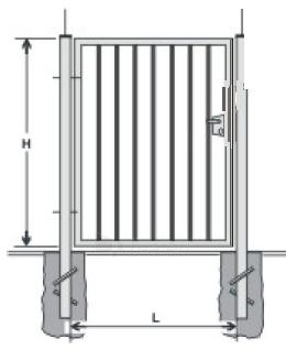 Hot dipped galvanized Swing Gates (single leaf) 1500x1000 (filler-slugs) Paveikslėlis 1 iš 1 239370000019